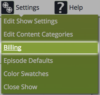Accessing Billing Settings