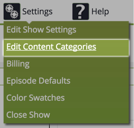 Editing Content Categories