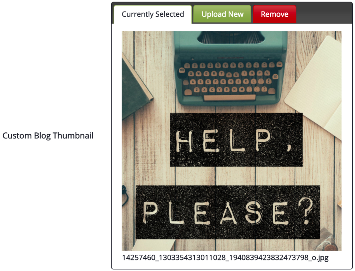 Upload Custom Blog Thumbnail
