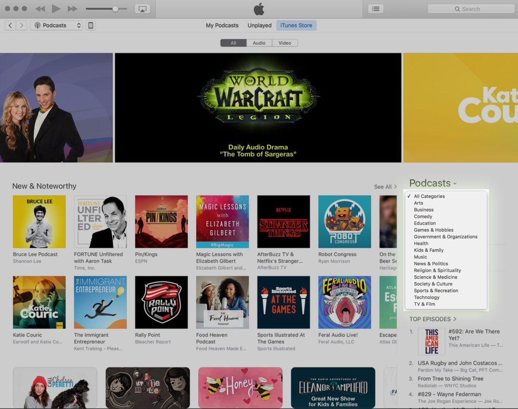 Apple Podcasts Categories