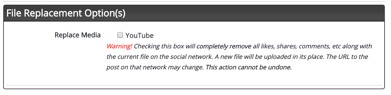 Replacing a File on Social